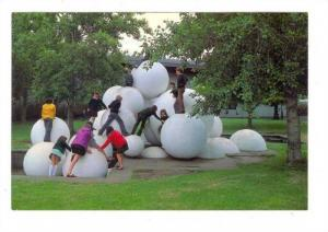 Kids on playground, Russell Grimwade Garden, Victoria, Australia, 50-70s