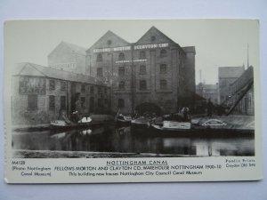 Nottingham Canal FELLOWS MORETON & CLAYTON CO. c1900 RP Postcard by Pamlin Repro