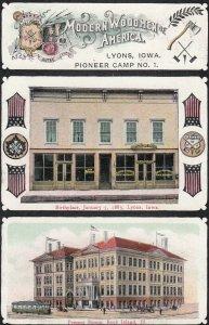 LYONS , Iowa, 1900-10s ; Woodmen of America
