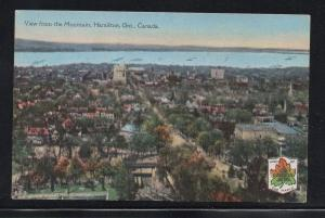Hamilton Ontario colour PC view from Mountain, unused