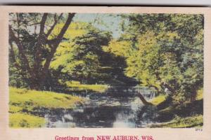 Wisconsin Greetings From New Auburn 1947