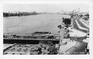 Egypt Cairo Nile Corniche Voitures Pont, Bridge Vintage Cars Voitures Panorama