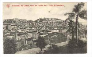 Panorama de Lisboa , Visto do Jardim de S. Pedro d'Alcantara, Portugal , 00-10s