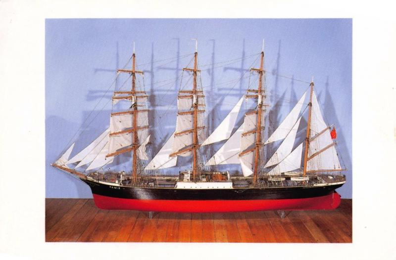 Postcard THE PAMIR Model Boat Ship Museum of Wellington City & Sea New Zealand