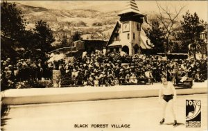 PC CPA US, ILL, CHICAGO, BLACK FOREST VILLAGE, REAL PHOTO POSTCARD (b6244)