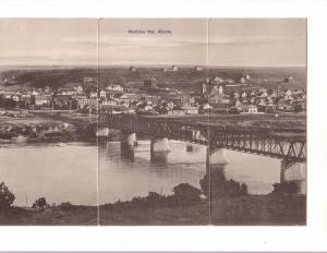 Medicine Hat Alberta, Town and Bridge, 'Giant' Oversize Card, Used int Intere...