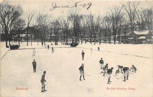 br105501 me gill hockey team  canada montreal sport
