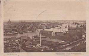 Kobenhavn , Denmark , PU-1921 Panorama