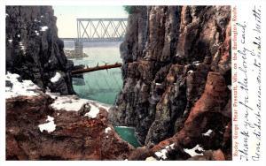 Wisconsin Prescott   Rocky Gorge  and View of Bridge