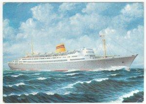 Norwegian American Line; Liner MS Bergensjord PPC, c 1960's, Official Card