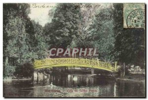 Postcard Old Bordeaux Public Garden Bridge