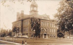 D19/ Cadillac Michigan Mi Real Photo RPPC Postcard 1910 High School Building 2