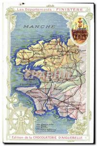 Old Postcard geographical maps of Chocolaterie & # 39Aiguebelle Finistere St ...