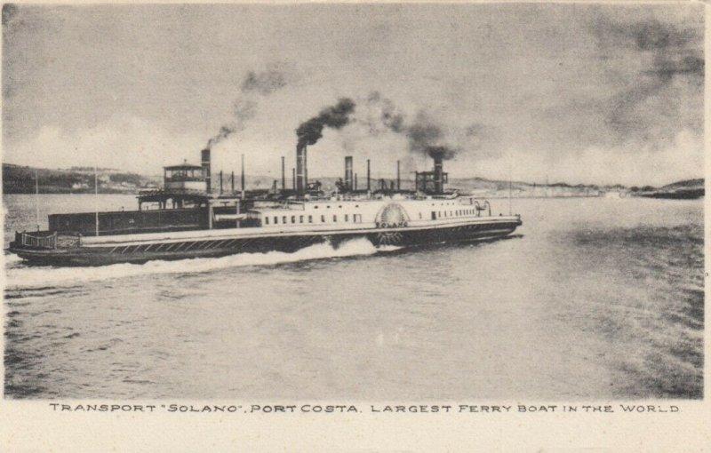 Transport SOLANO , Port Costa , California , 00-10s