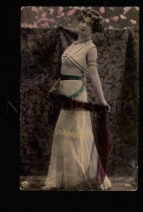 047877 Tinted BELLY DANCER BALLET Vintage PHOTO tinted PC