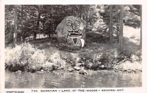 <A13> CANADA Ontario Postcard Photo RPPC c40s KENORA Guardian Lake the Woods 17