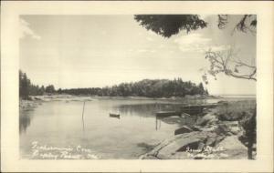 Ripley Point ME Fisherman's Cove Real Photo Postcard