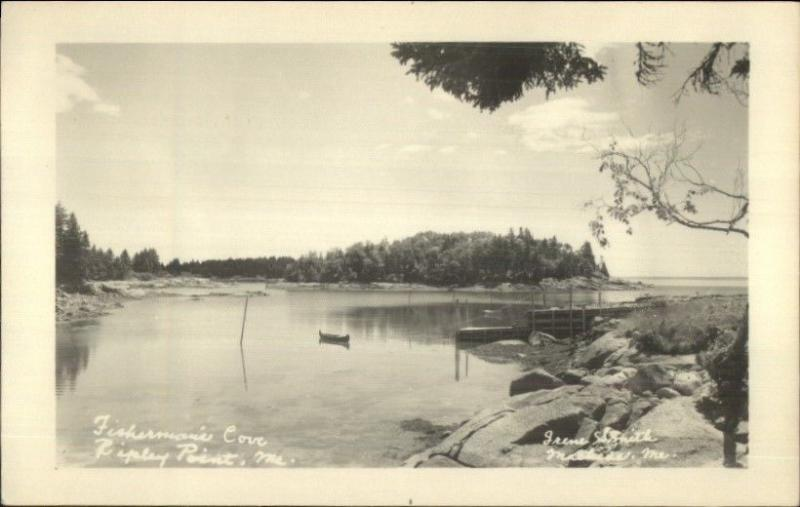 Ripley Point ME Fisherman's Cove Real Photo Postcard