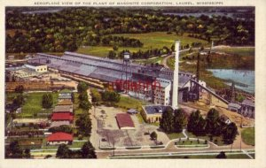 AEROPLANE VIEW OF THE PLANT OF MASONITE CORPORATION, LAUREL, MS.
