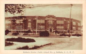 Baldwin New York Harbor Public School Street View Antique Postcard K58527