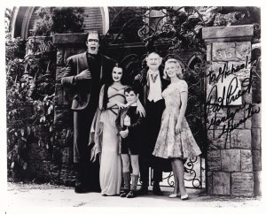RP; Autograph Photograph Of The Munsters, Signed By PAT PRIEST