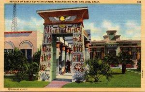 California San Jose Rosicrucian Replica Of Early Egyptian Shrine
