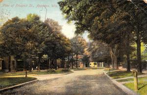 Appleton Wisconsin~Prospect Street Homes~Boy on Bicycle~Little Girl~1909 PC