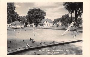 Traer Iowa~Lifeguard on Duty @ Swimming Pool~Russ & Cliff to Play Golf RPPC 1961