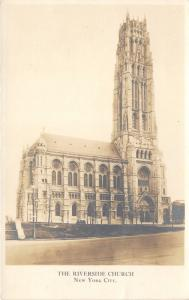 New York City~Riverside Church~Gothic Style Architectural Building~c1930 RPPC