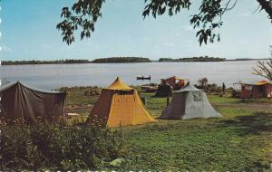 One of the many camping sites provided by St. Lawrence Parks Commission,  Cor...