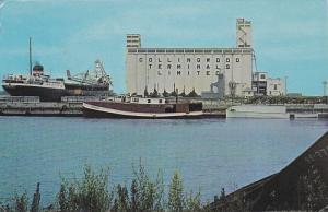 Grain Elevators at Collingwood,  Ontario,   Canada,  40-60s