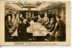 PARIS FRANCE ARMISTICE '18 VINTAGE WWI POSTCARD VON HELLDORF