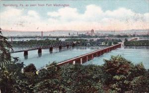 Pennsylvania Harrisburg As Seen From Fort Washington 1907