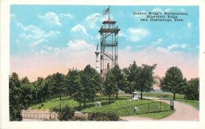 Chattanooga TN~General Bragg's Headquaters~Missionary Ridge~1920s Postcard