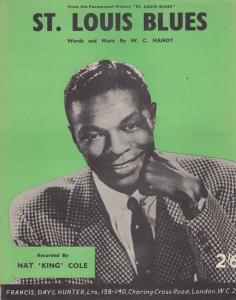 St Louis Blues Nat King Cole 1950s Sheet Music