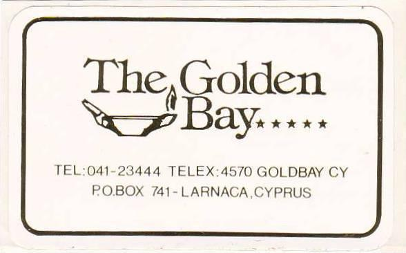 CYPRUS LARNACA GOLDEN BAY HOTEL VINTAGE LUGGAGE LABEL