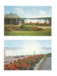 Canada Ontario Niagara Horseshoe Falls Park Gardens 2 Postcards