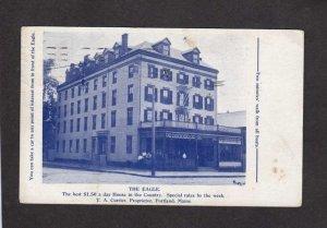 ME The Eagle Rooming House Hotel Inn Portland Maine Postcard Currier 1910