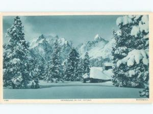 1940's SNOWBOUND IN TETONS Copyright At Jenny Lake - Jackson Hole WY F0180