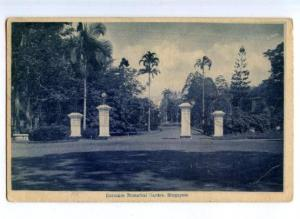 172115 SINGAPORE Entrance Botanical Garden Vintage postcard