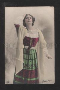 072568 CAVALIERI Italian OPERA Singer Old PHOTO Colorful