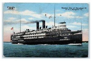 Postcard Steamer City of Cleveland, D & C Navigation Co. 1943 T30