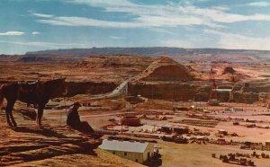 Page, Arizona, AZ, Overlooking Glen Canyon Damsite, Vintage Postcard g5708