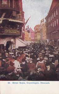 Busy Street Scene, COPENHAGEN, Denmark, 1900-1910s