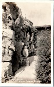 RPPC SAN FRANCISCO, CA   GROTTO MISSION DOLORES  Cemetary c1930s  Postcard