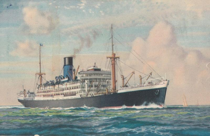 SS Sarpedon Blue Funnel Line Alfred Holt Liverpool Antique Ship Postcard
