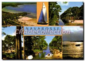 Postcard Modern Biscarrosse Navarosse The Beaches And The Canal