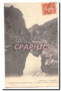 Surroundings of & # 39Evaux baths (Creuse) Old Postcard The snake pit on the ...