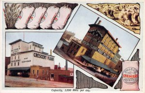 Voight's Crescent Flour Mill, Grand Rapids, Michigan, Early Postcard, Unused