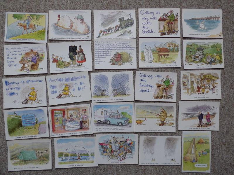 bu0177 - 25 Postcards by comic artist Rupert Besley - All Shown